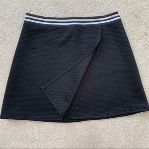 Quilted Faux Wrap Skirt